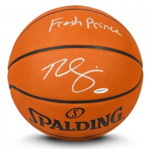 "Ben Simmons Autographed & Inscribed ""The Fresh Prince"" Authentic Spalding Basketball"