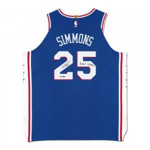 Ben Simmons Autographed & Inscribed Philadelphia 76ers Blue Authentic Nike Jersey