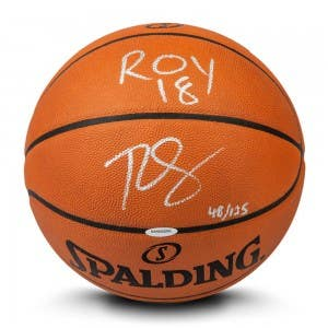 "Ben Simmons Autographed & Inscribed ""ROY '18"" Authentic Spalding Basketball"