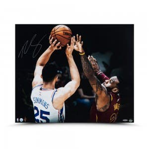 """Ben Simmons Autographed """"Matchup"""" 24 x 20"""