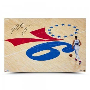"""Ben Simmons Autographed """"One Step At A Time"""" 30 x 20"""