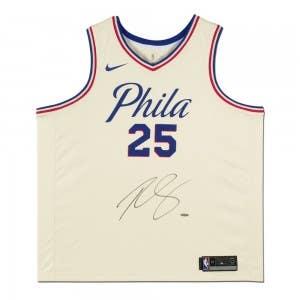 Ben Simmons Autographed Philadelphia 76ers White City Edition Swingman Nike Jersey