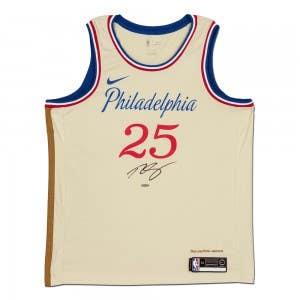 Ben Simmons Autographed Philadelphia 76ers Cream Swingman 2019-20 City Edition Nike Jersey