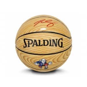 Ben Simmons Autographed Wood Grain Indoor/Outdoor Spalding Basketball