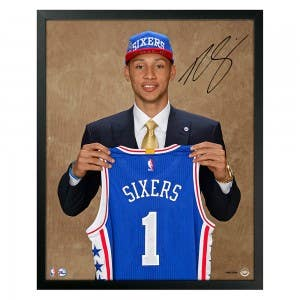 Ben Simmons Autographed Draft Day Photo
