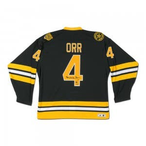 Bobby Orr Autographed Boston Bruins Heroes of Hockey Authentic Black Jersey