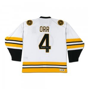 Bobby Orr Autographed Boston Bruins Heroes of Hockey Authentic White Jersey