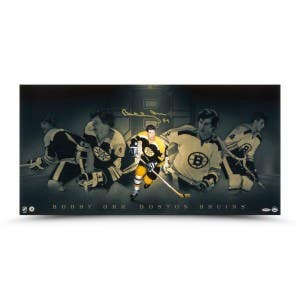 "Bobby Orr Autographed ""Dominance Collage"" 30x15"