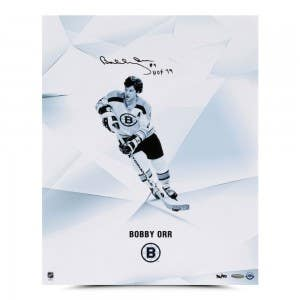 "Bobby Orr Autographed & Inscribed ""Clarity"" 16 x 20"