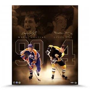 "Bobby Orr & Wayne Gretzky Autographed ""Unmatched"" 20 x 24"