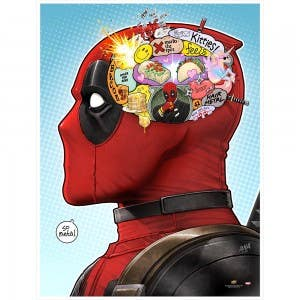 Brain Sprain Deadpool Print