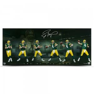 Brett Favre Autographed Art of the Pass 36 x 15