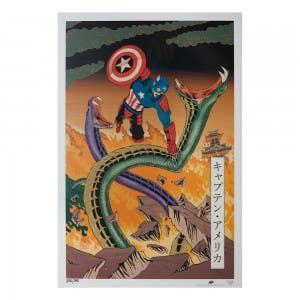 Captain America – Japanese Woodblock Avengers