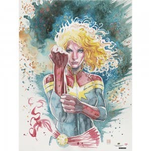 Captain Marvel Cosmic Defender Print