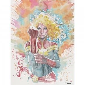 Captain Marvel Cosmic Warrior Print