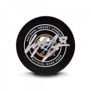 Casey Mittelstadt Autographed Buffalo Sabres Sher-wood ® Official NHL Game Puck