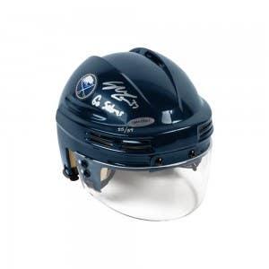 Casey Mittelstadt Autographed & Inscribed Buffalo Sabres Navy Mini Helmet