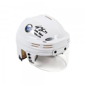 Casey Mittelstadt Autographed & Inscribed Buffalo Sabres White Mini Helmet