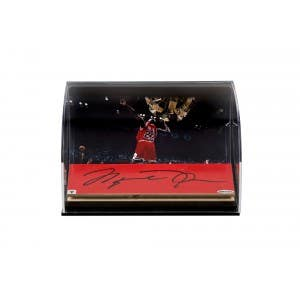 Michael Jordan Autographed Bulls '98 Celebration Photo With Game Used Floor FRONT
