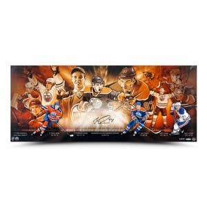 "Connor McDavid Autographed ""Accomplishments"" 36 x 15"