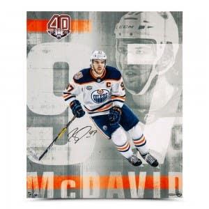 "Connor McDavid Autographed ""Anniversary"" 20 x 24"
