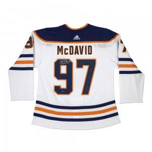 Connor McDavid Autographed Authentic Edmonton Oilers Adidas White Jersey