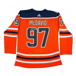 Connor McDavid Autographed Edmonton Oilers Authentic Orange Jersey With 40th Anniversary Shoulder Patch