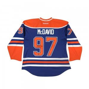 Connor McDavid Autographed Authentic Edmonton Oilers Blue Jersey with Captain and Inaugural Patches
