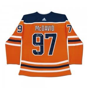"Connor McDavid Autographed & Inscribed ""41 G"