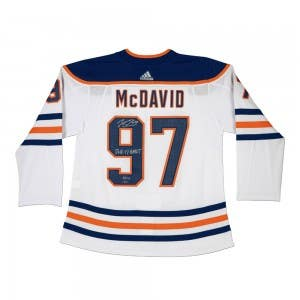 Connor McDavid Autographed & Inscribed Authentic Edmonton Oilers Adidas White Jersey
