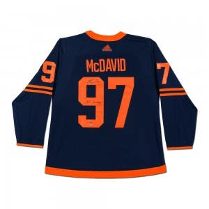 Connor McDavid Autographed & Inscribed Authentic Navy Adidas Edmonton Oilers Alternate Jersey