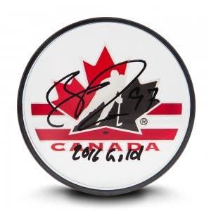 Connor McDavid Autographed & Inscribed Team Canada Acrylic Puck