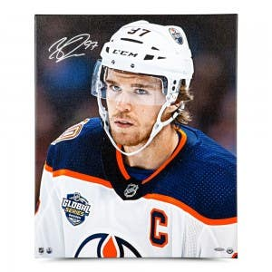"Connor McDavid Autographed ""Looking On"" 20 x 24 Canvas"