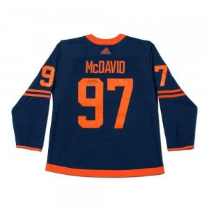 Connor McDavid Autographed Authentic Navy Adidas Edmonton Oilers Alternate Jersey