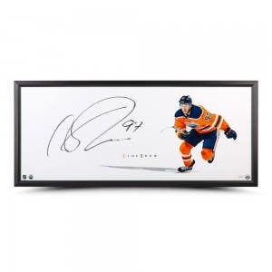 """Connor McDavid Autographed The Show """"Point of Attack"""""""