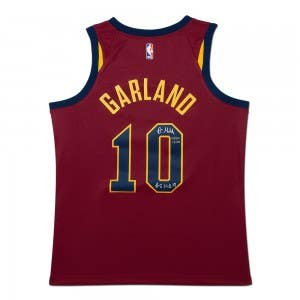 "Darius Garland Autographed & Inscribed ""#5 Pick '19"" Cleveland Cavaliers Nike Swingman Icon Edition Jersey"