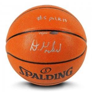 "Darius Garland Autographed & Inscribed ""#5 Pick '19"" Indoor/Outdoor Spalding Basketball"