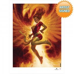 Dark Phoenix Fire Rising Print by E.M. Gist