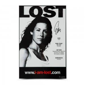 Evangeline Lilly Autographed Lost 11 x 17 Poster
