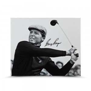 Gary Player Autographed Up Close & Personal 20x24 Canvas