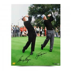 Gary Player Autographed Dual With Jack Photo