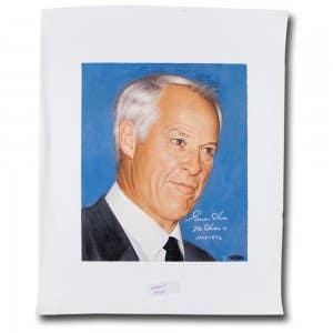 Gordie Howe Autographed Goodwin Portrait Original Art