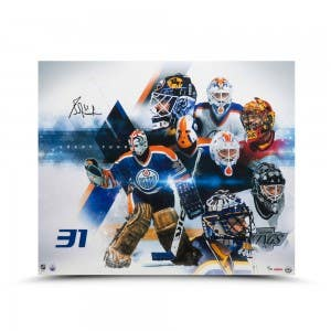 Grant Fuhr Autographed Evolution 20 x 24