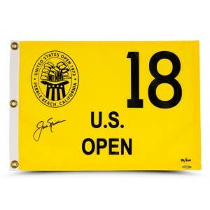 Jack Nicklaus Autographed 1972 U.S. Open Pin Flag