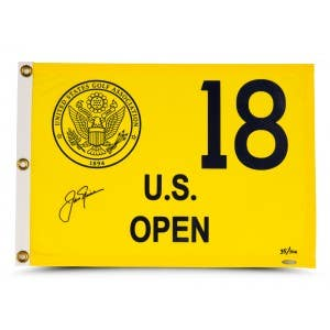 Jack Nicklaus Autographed 1980 U.S. Open Pin Flag