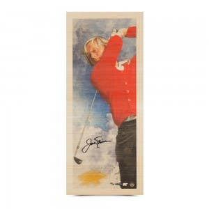 """Jack Nicklaus Autographed """"Fearless"""" Bamboo Print"""