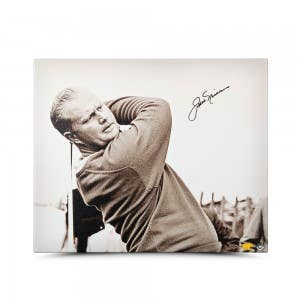 Jack Nicklaus Autographed Up Close & Personal Canvas 20 x 24