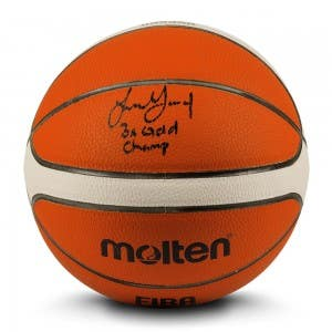 "Jalen Green Autographed & Inscribed ""3x Gold Champ"" Molten Basketball"