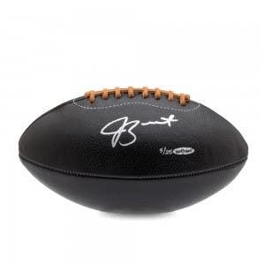 Jameis Winston Autographed Black Leather Head Football