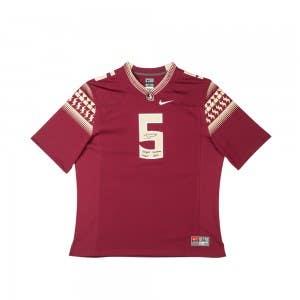 Jameis Winston Autographed & Inscribed FSU Garnet Nike Replica Jersey